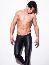 Fashion Men's Faux Leather PVC Trousers Night club Dance Slim Long Pants