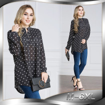 New Arrival Female Plus Point Shirt Black Muslim Women Shirt Plus Size