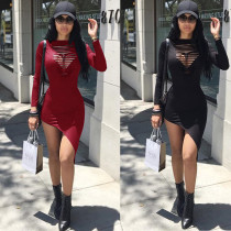 Women's Sexy Cut out Long Sleeve Bodycon Bandage Party Pencil Mini Dress Clubwear for Fall Winter