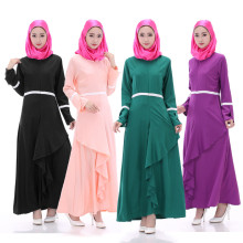 Women Wholesale Indonesia Enthic Clothing Maxi Muslim Dress In Bluk