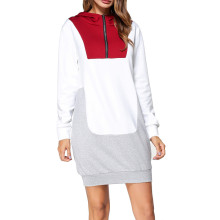 New Design Ladies Plus Size White Hoodie Cotton Women'S Raglan Long Sleeves 1/2 Zip Pullover Hoodie Without String