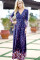 2018 Spring Long Maxi Dresses Casual Fireworks Printed Party Dress Plus Size Women V Neck Long Sleeve Dress vestiges