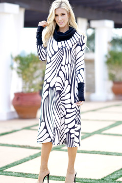 Fashion Women Dresses Plus Size Bow Neck Long Sleeve 2018 Spring Print Dress Elegant Ladies Vestido Mujer Streetwear