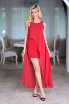 Long Dress Elegant O Neck Sleeveless Tank Bodycon Dress Women vestidos mujer 2018 Summer Dresses Irregular Sundress Red