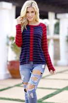 Long Sleeve Women Spring T-Shirts 2018 Hot Stripe Casual O Neck T Shirt Female Soft Cotton Tees Tops 3XL Plus Size