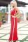 2018 Newest Fashion Sexy Slim Long Jumpsuits Lady Elegant Plus Size Rompers Clothing Red Streetwear Club Elegant