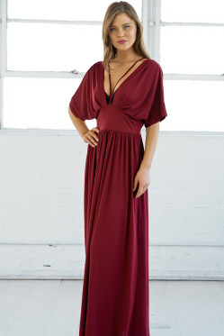 2018 Summer Dress Double Deep V Maxi Dress Women Solid Sexy Chistamas Evening Party Clubwear Long Dresses Vestido Red