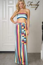 jumpsuit bandeau top wide leg pant
