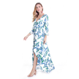 Sexy Summer Flora Printed Long Maxi Sleeveless Dresses TOM1046