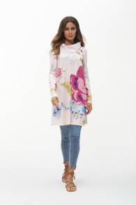 Spring Flower Print Women Plus Size 3XL Dress Autumn Female Long Sleeve Dress Turn Down Neck Loose Casual Dresses