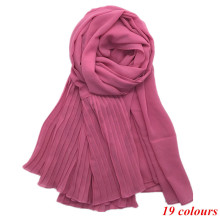 New Fashion 19 Colors Women Scarf Vintage Ladies Solid Color Black Red White Scarves Warp Summer Women's Scarf Long Shawl