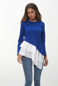 Blue Ladies Top Women's Blouses T shirts