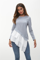 Grey Ladies Top Women's Blouses T shirts