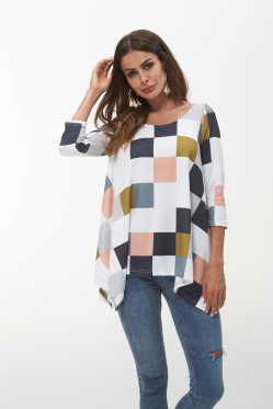 Tomslover Round Neck 3/4 Sleeve Knitted Top