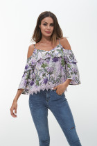 Spaghetti Strap Ruffled Off Shoulder