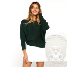 Winter Women Casual Long sleeve Knitted Sweater Sexy Off Shoulder Pullover