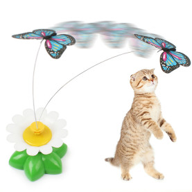 Cat Toys Automatic Cat Butterfly Electric Rotating Colorful Bird Creative Fun Games for Pet