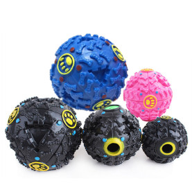 Pet Color Sound Leakage Food Ball Toy Sound Training Toy Chew Ball Resistant Teeth Bite Dog Toys Pet Ball Toy