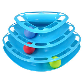 Three Removable Turntable Cat Toy Funny Tower Cat Toy Pet Ball Disk Interactive Amusement Plate