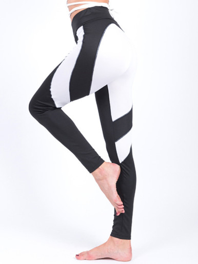 Heart Pattern Patchwork Fitness Leggings Hip Push Up Women Leggings
