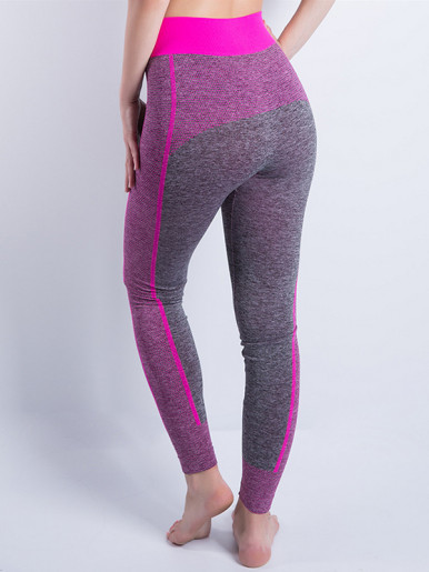 Women Leggings Strpied Hit Color High Waist Leggings Fitness Leggings