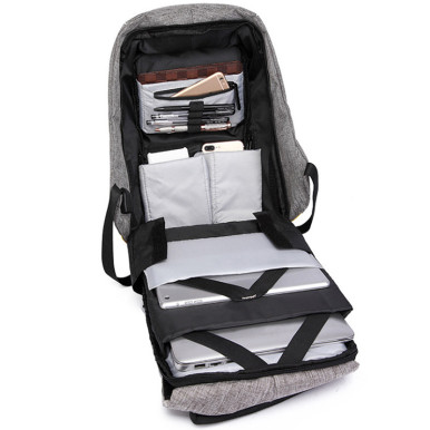 OneBling Canvas Men Anti-theft Laptop Backpack Women Waterproof Travel Bag