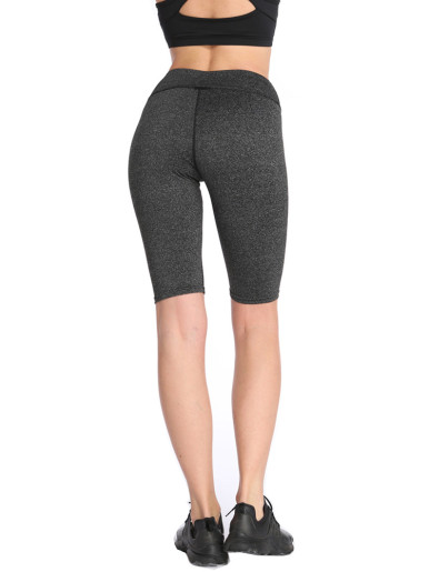 Mid Waist Stretch Yoga Shorts Running Fitness Skinny Women Knee Length Leggings