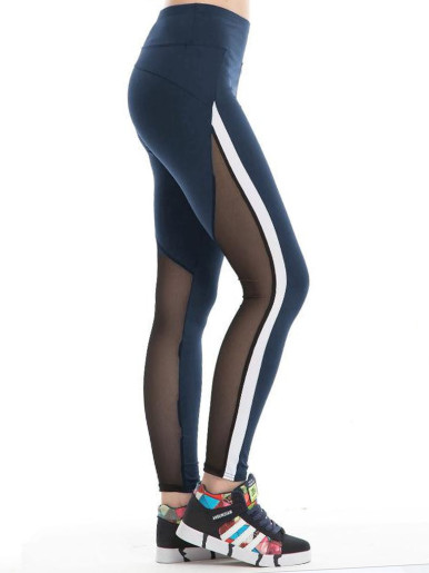 Sexy Women Yarn Yoga Stitching Elastic Running Fitness Leggings