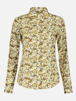 OneBling Floral Women Blouses Long Sleeve Shirt Cotton Shirts