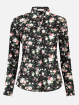 OneBling Foral Print Cotton Women Blouse Long Sleeve Elegant Shirts