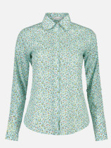 OneBling Women's Floral Print Blouses Cotton Shirts