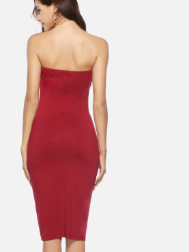 Bandeau Midi Pencil Dress