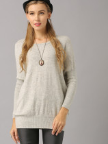 Ribbed Cuff and Hem Drop Shoulder Sweater