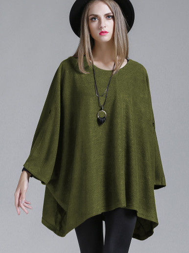 OneBling Oversized Poncho Jumper