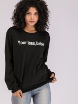 OneBling Slogan Print Graphic Sweatshirt