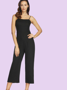 Cami Strap Sleeveless Cropped Jumpsuit