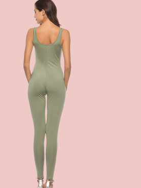 Scoop Neck Sleeveless Skinny Jumpsuit