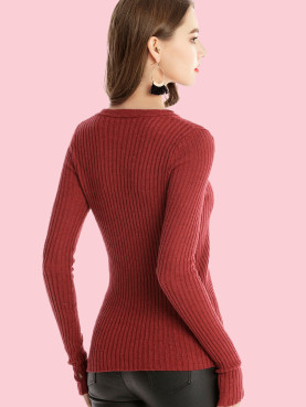 Slim Fit Ribbed Knit Jumper