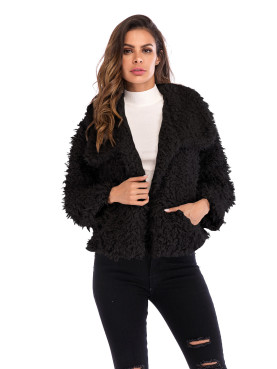 Teddy Faux Fur Coat with Pockets