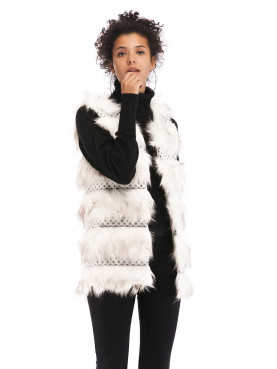 Cut and Sew Faux Fur Gilet