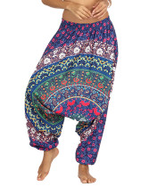 Pants In Tribal Print with Dropped Crotch
