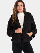 OneBling Teddy Faux Fur Coat with Pockets