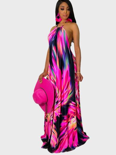Striped Strapless Max Dress