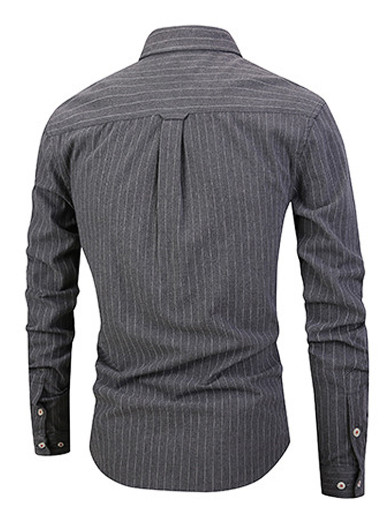 Mens Cotton Striped Shirts High Quality Soft Shirt