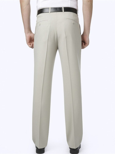 Summer Men Elasticity Pants Anti Wrinkle Straight Trousers