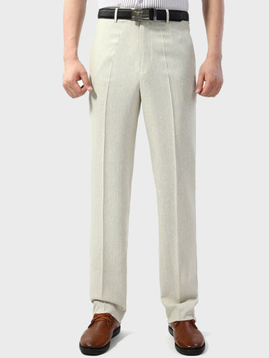 Men's Linen Summer Business Thin Suit Pants