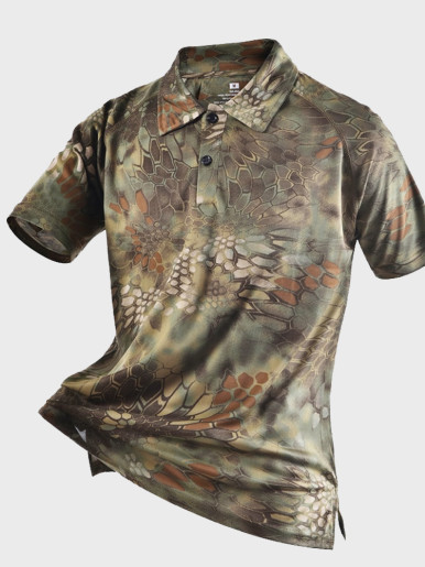Men's Shirts Tactical Camouflage Polo Shirt Summer