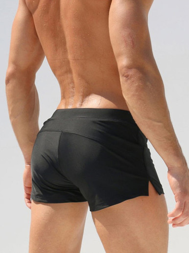 Mens Swimming Shorts Beach Pouch