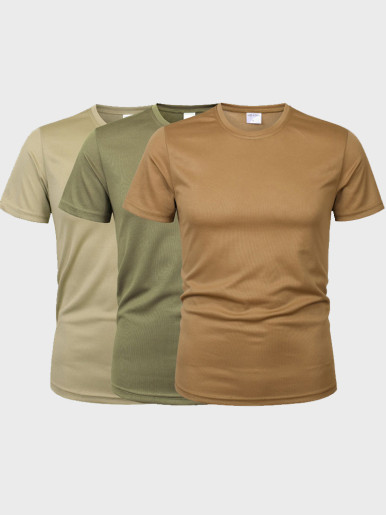 Men Camouflage Tactical T Shirt Army ShortSleeve