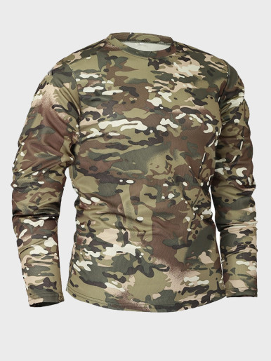 Men Long Sleeve Tactical Camouflage T-shirt